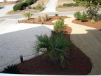 Landscaping with Rock Parking area