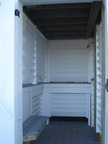 Louvered shower enclosure