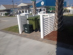 Louvered trash enclosure