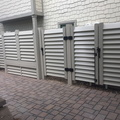 Bland Almond Louvers and custom gates